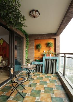 经典美式典雅阳台设计