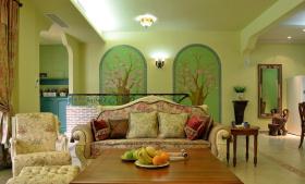 美式经典素雅别墅客厅设计