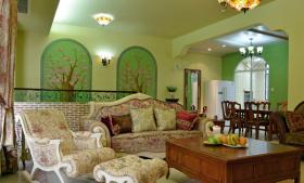 美式植物森系客厅装饰设计