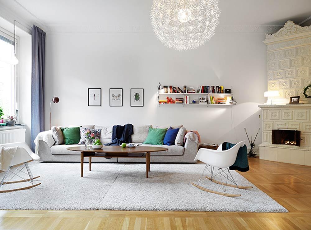 清新宜家风格100平两居室装修案例