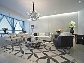 豪华美式风格150平三居室装修案例