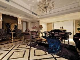 大气混搭风格150平二居室装修设计