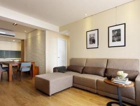 舒适简约89平两居室装修设计欣赏