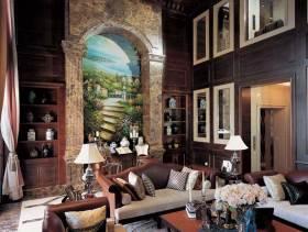 褐色大气美式风格别墅装修设计