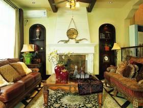 褐色雅致东南亚风格别墅装修设计