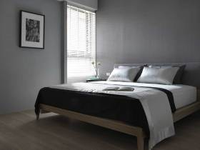 灰色素雅简约北欧卧室装修效果图