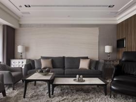 时尚现代质感180平三居装修设计欣赏