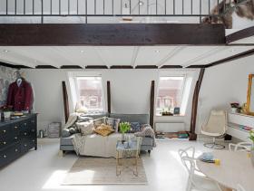 36平清爽北欧设计复式阁楼装修案例