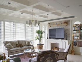 淡雅美式风格90方两居装潢设计