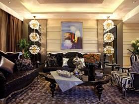 豪华198平米浅褐色色系混搭二居装修案例