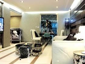 黑白灰现代欧式60平一室一厨一卫装修案例