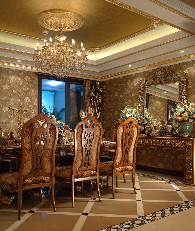 奢华古典欧式三室两厅装修案例欣赏-兔狗装修效果图