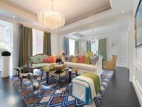 多彩清新混搭风格三室一厅装潢案例
