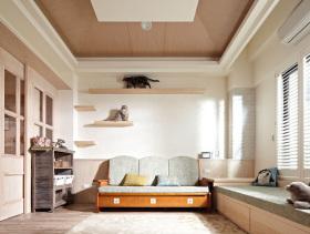 淡雅美式三居室装修案例