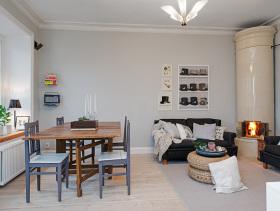洁白欧式一居室装修案例欣赏