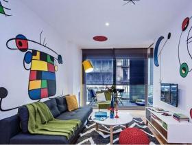 涂鸦现代两居室装修 效果图