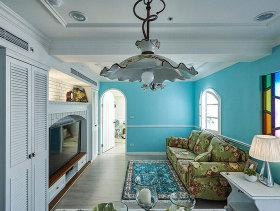 现代水色田园两居室装修案例