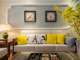 时尚新中式三居室装修案例鉴赏