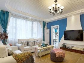 蓝白地中海三居室设计美图