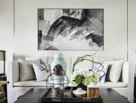泼墨新中式三居室装修设计