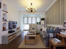 美式地中海混搭两居室装潢案例