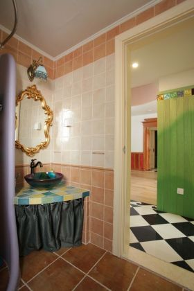 休闲田园风格卫生间装饰设计图片