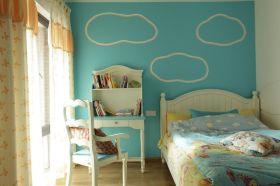 蓝色个性简欧风儿童房装潢案例