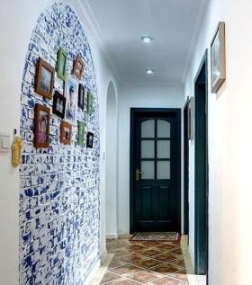 蓝色地中海浪漫过道装潢设计