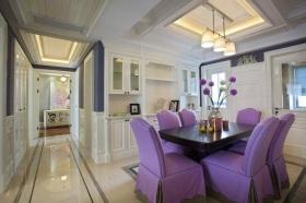 紫色浪漫唯美美式风格餐厅设计案例