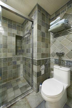灰色简约风格卫生间墙砖装潢设计