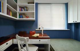蓝色地中海风格儿童房书柜美图赏析