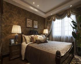 褐色新古典风格卧室装潢设计赏析