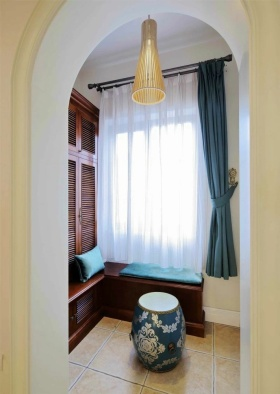 新古典米色飘窗效果图设计