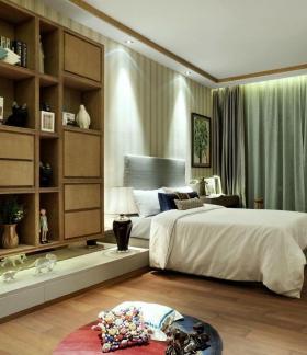 黄色中式风格卧室装饰柜装修欣赏