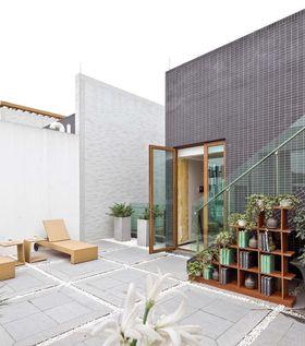 中式浪漫风格休闲阳台装修布置