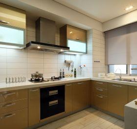现代风格素雅黄色厨房装修效果图片