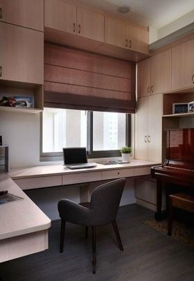现代风格书房装潢设计