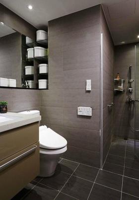 简洁中式风格卫生间装修美图欣赏