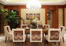 褐色东南亚风格餐厅装修