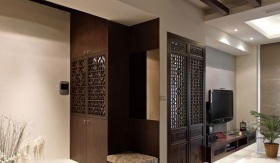 中式精美收纳柜装潢案例