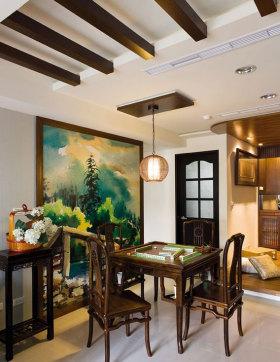 中式风格麻将室设计装潢