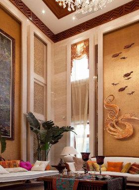 2016东南亚华丽背景墙装修设计