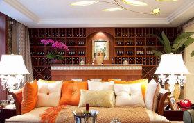 东南亚风格客厅酒柜设计装潢
