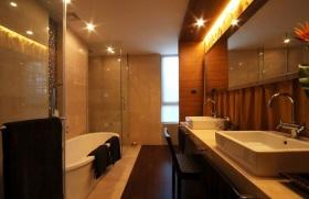 橙色新中式风格卫生间装修图片