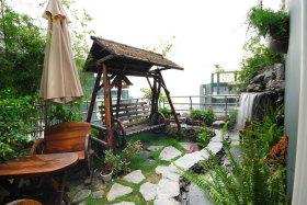 中式休闲花园设计装潢2016