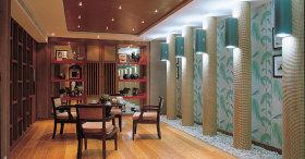 红色新中式风格餐厅装饰图