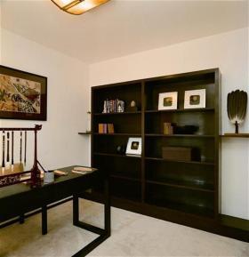 中式黑色大气书房收纳柜图片赏析
