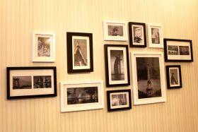 现代米色照片墙设计图