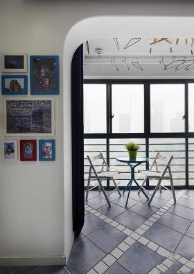 2016米色地中海照片墙装修图