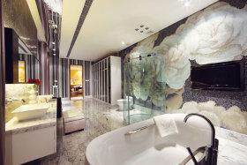 白色素雅中式风格卫生间装饰图